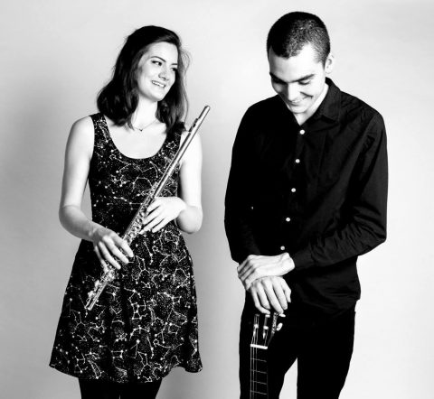 'Silver and String' Classical Flute and Guitar Duo Sophie Gill (flute) and Henry Bateman (guitar)